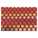 Papier indien 50 x 70 cm 120 g/m² Cercle Rouge Rose Or & Argent