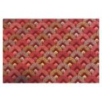Papier indien 50 x 70 cm 120 g/m² Dawn Rouge Rose Or & Argent