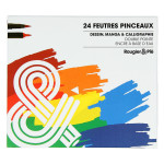 Feutre Pinceau double pointe Set 24 couleurs